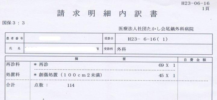 Fig.4 - punctaj (pansament)
